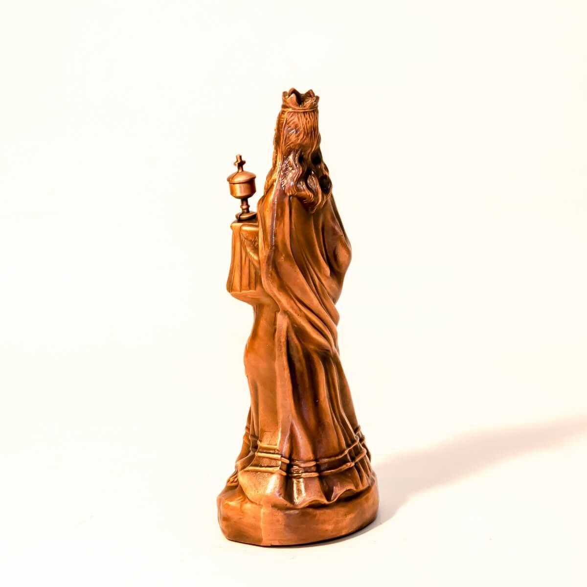Św. Barbara - odlew z miedzi